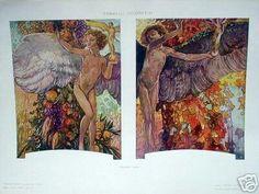 ART NOUVEAU DECORATIVE PRINT 1910 by Galileo Chini