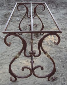 Heavy wrought iron decorative table bases from Turkey.  Solid and heavy, extremely well built.  We can add any custom table tops available for a truly beautiful dining table...or available by itself for your own custom creation!  Contact us for availability and pricing. Below price is for base only.