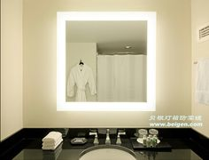 as part of our bathroom remodel...backlit led mirror.