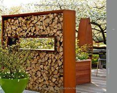 sichtschutz stahl holz 1 terrasse pinterest garten. Black Bedroom Furniture Sets. Home Design Ideas