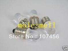 Free shipping 50pcs white E10 12V Led Bulb Light Lamp for LIONEL 1447