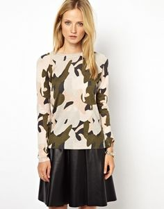 Whistles Jumper in Camo Print