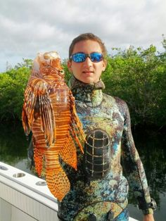 A big lionfish that will not be causing any more damage!