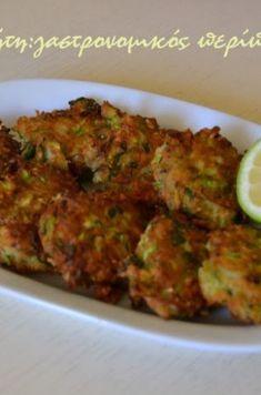 Kουταλίτες με κολοκύθι (κολοκυθοτηγανίτες) - cretangastronomy.gr Tandoori Chicken, Vegetables, Ethnic Recipes, Food, Essen, Vegetable Recipes, Meals, Yemek, Veggies