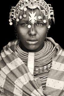 Africa | Portrait of a Samburu girl from Wamba, Kenya. |  © Mario Gerth
