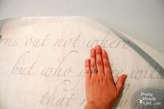 Tutorial for how to apply vinyl lettering to walls