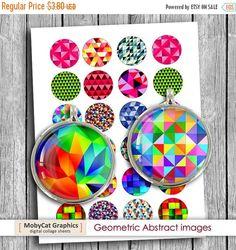 В продаже геометрические печати изображений 20 мм 1 дюйм 30мм 1.5 дюйм для печати изображений, цифровой коллаж лист - мгновенная Загрузка