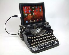 Attach an old typewriter as your keyboard!