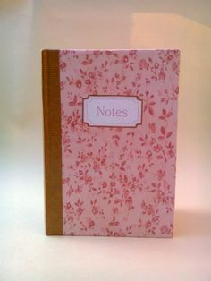 Pink floral Notebook - pretty pink - school supplies - journal