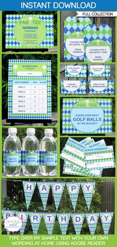 Golf Birthday Party Decorations & Invitation  full by SIMONEmadeit