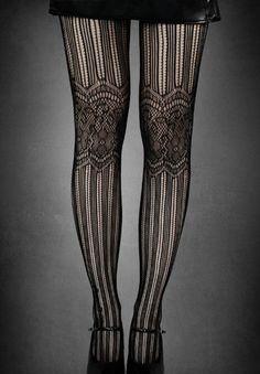 Strumpfhose Gothic Lolita Alice Spitze Strümpfe Burlesque Steampunk Leggings emo | eBay