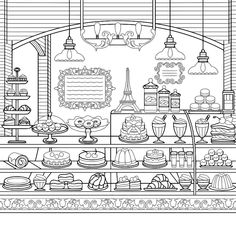 Detailed Coloring Pages, Cute Coloring Pages, Cartoon Coloring Pages, Adult Coloring Pages, Coloring Books, Printable Coloring Sheets, Zen Doodle, Zentangle Patterns, Colorful Drawings