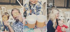 Cookies and milk family shoot