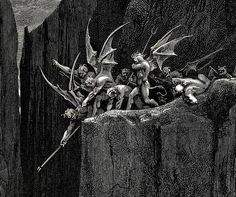 The Inferno ● Canto lines (detail) Gustave Doré 1890 ● Dante Alighieri Gustave Dore, Dante Alighieri, Devine Comedy, Angels And Demons, Children's Literature, Illustrations, Macabre, Occult, Dungeons And Dragons