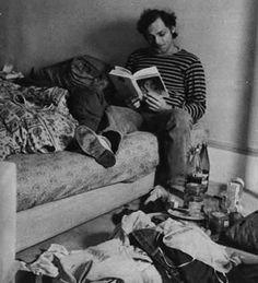 """"""" Patrick reading at home """""""