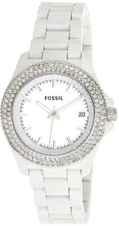 Fossil Retro Traveler Three Hand Resin Watch - White Am4466