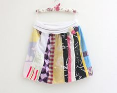 Patchwork Skirt / Summer skirt / Recycled fabric skirt / Upcycled  Boho Skirt / Romantic skirt / Size L / Upcycled clothing by Saidonia Eco
