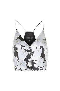 Silk Floral Print Cropped Cami by Topshop Reclaim - Topshop