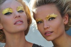 "Glitter Gold ""Eyeshadow""...it's futuristic yet...ancient (Egyptian)"