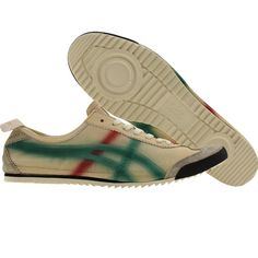 Asics Onitsuka Tiger Mexico 66 Deluxe from the Nippon Made Collection in birch, green and red