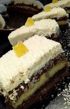 Greek Sweets, Greek Desserts, Greek Recipes, Cookbook Recipes, Sweets Recipes, Greek Pastries, Kolaci I Torte, Custard Cake, Greek Cooking