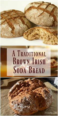 Irish Brown Bread, Irish Bread, Irish Soda Bread Recipes, Irish Desserts, Asian Desserts, Brown Bread Recipe, Traditional Irish Soda Bread, Traditional Irish Recipes, Traditional Bread Recipe