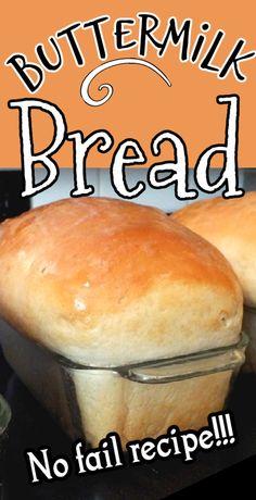 Bread Maker Recipes, Sandwich Bread Recipes, Easy Bread Recipes, Baking Recipes, Cat Recipes, Honey Buttermilk Bread, Homemade Buttermilk, Bread Bun, Bread Rolls