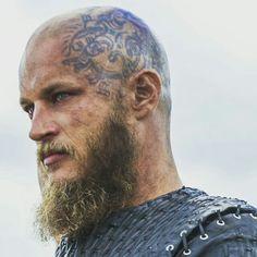 Ragnar viking's tattoo on head *-* | vikings obsession ...