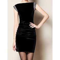 Trendy Style Boat Neck Spliced Slimming Sleeveless Women's Dress