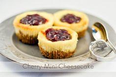 cheesecake minicheesecake cherry  Photographer: Alina Vadean  http://theardesignstudio.com/category/photography/
