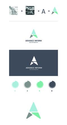 Advance Inform by Glad Head (via Creattica): – Design Graphic Design Tips, Graphic Design Branding, Corporate Design, Logo Design Inspiration, Identity Design, 2 Logo, Typography Logo, Logo Branding, Logistics Logo