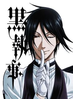 Black Butler; definitely one of the best anime series. The way Sebastian is drawn is flat out GORGEOUS!
