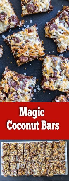 Magic Coconut Bars are simply going to win you over. It only takes a few minutes to put them together and the combination of chocolate, coconut and nuts really just flows together so perfectly.