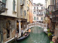 Cool pic of the canals in Venice, Italy  shot from one of the many bridges