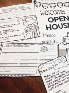 The Teaching Sweet Shoppe!: Forms at Your Fingertips!  Student information card