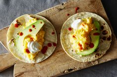 5 Ingrediant Scrambled Egg Tacos with Avocado , a recipe on Food52