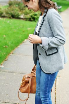 jillgg's good life (for less) | a style blog: my everyday style: it's blazer season with Boden!