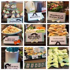 Mustache Bash Baby Shower food