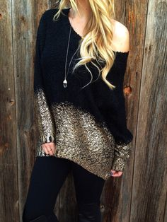 Dipped In Gold Sweater – Lola Jeannine