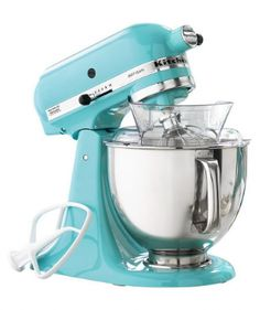 turquoise kitchen aid stand mixer