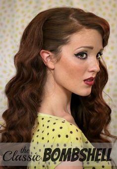 Some days simply call for bombshell hair. Give this vintage hairstyle a whirl when nothing else will do. The Freckled Fox creates these pinup-girl curls with hot rollers and a curling iron and finishes the look with winged-out eyeliner.