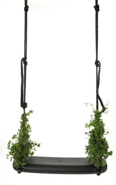 Marcel Wanders combined two outdoor summertime favorites – swinging and gardening – into one, super fun design for Droog. The Swing with the Plants is an indoor/outdoor swing whose seat edges can be filled with plants. Design Shop, Store Design, Kids Room Furniture, Hanging Furniture, Hanging Chair, Garden Furniture, Outdoor Furniture, Boffi, Hammock Swing