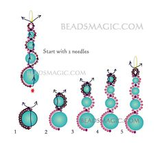Free pattern for earrings White Moon | Beads Magic