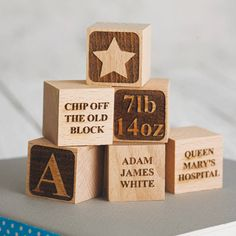 personalised baby keepsake building block by sophia victoria joy | notonthehighstreet.com
