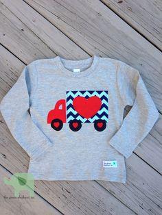Boy's Valentine's Shirt Truck of Love on Etsy, $18.50