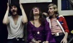 John Dawson aka Marmaduke, Janis with Rick Danko of the Band to her right on the Festival Express From June 28 to July 4, 1970.