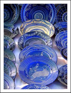 Blue Pottery, Blue Pottery in Jaipur, Blue Ceremic Pottery Im Blue, Love Blue, Blue And White, Cobalt Glass, Cobalt Blue, Azul Real, Blue Pottery, Bleu Turquoise, Swarovski