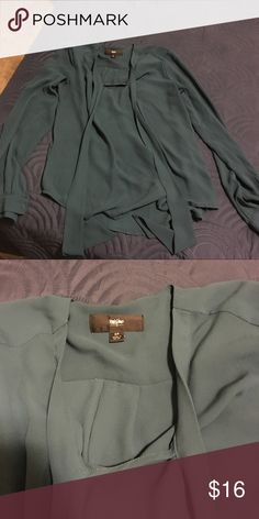 Blouse EUC - excellent for work or casual dress. It is a green/dark teal color Tops Blouses