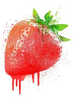 Strawberry temporary tattoo. Perfect party favor for the strawberry themed birthday party. www.tattmetattoos.com