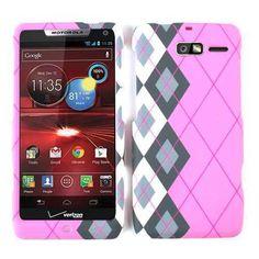 Pink Grey Plaid Cover for Motorola Droid RAZR M XT907 Faceplate Phone Case 84 | eBay